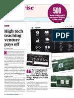 High Tech Teaching Venture Pays Off