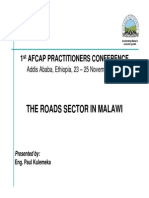 The Roads Sector in Malawi