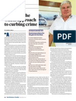 Hands on Wheel Approach to Curbing Crime