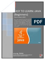 Easy to Learn- Java