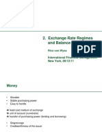 Exchange Rate Regimes / Balance of Payments