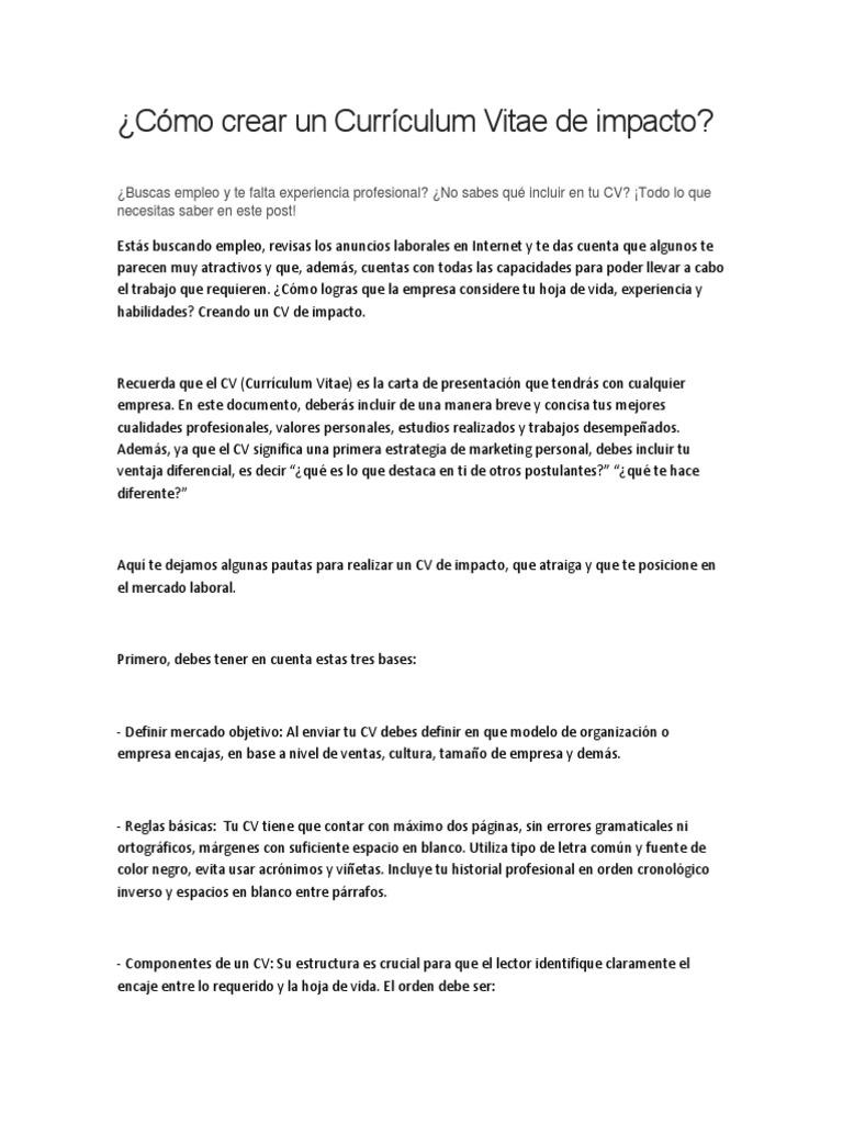 Único Qué Es Cv Resume Imágenes - Ejemplo De Colección De Plantillas ...
