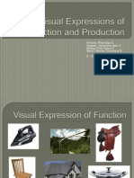 Visual Expressions of Function and Production Report