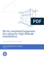 MV Air-Insulated Equipment de-Rating for High Altitude Installations