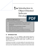 Topic 1 Introduction to Object-Oriented Software Development