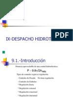 Potencias - Cap Ix - Despacho Hidrotermico
