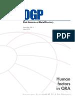 Human Factors in QRA