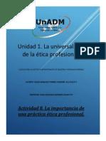 ETI U1 A8 CETC Actividad 8. La Importancia de Una Practica Etica Profesional Tarea