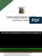 Rol de la investigacion en la practica profesional