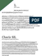 Charis Sil Type Sample
