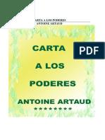 Artaud Antonin-Carta a Los Poderes