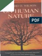 Wilson - On Human Nature