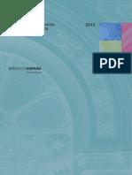 Memorias del servivio de reclamaciones del Banco de España 2012