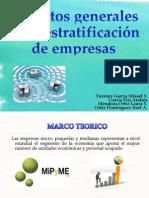 Aspectos generales de la estratificación de empresas