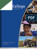 Utica College Graduate Catalog 2009-10