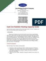 Sizing Cast Iron Radiator Heating Capacity Guide