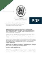 Sentnecia de Coboro de Bolivares Perito 2010
