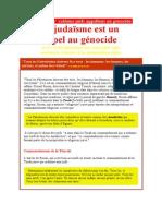 Des 'grands' rabbins juifs appellent au génocide