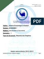 ✉ Eco ► FSJES SETTAT-s1-eco-introduction-a-leconomie-resume-des-chapitres-