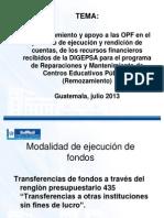 Programa Reparaciones y Mantenimiento de Centros Educativos Pùblicos