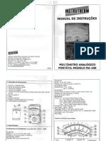 Multimetro Analogico (Manual) MA-110