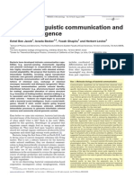 Bacterial linguistic communication and social intelligence