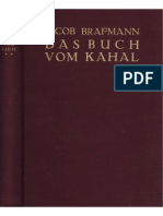Brafmann, Jacob Das Buch Vom Kahal 2. Band 1928, Fraktur