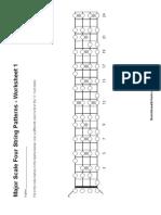 Worksheet 4 - Major Scale Four String Patterns - 1