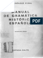 R. Menendez Pidal - Manual de Gramatica Historica Española
