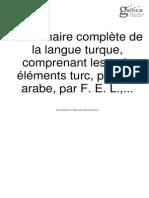 Grammaire Turc Ancien