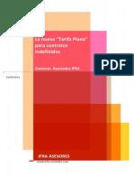 """Análisis de la """"Tarifa Plana"""" por contratación indefinida - IFRA ASESORES"""