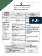 Guia Proceso de Matricula 2014
