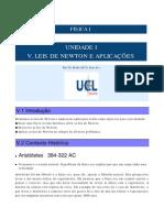 UNIDADE I. LEIS DE NEWTON E APLICAÇÕES