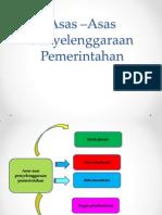 Asas Asas Hubungan Pemerintahan Pusat dan Daerah & Asas Asas Pemerintahan yang baik