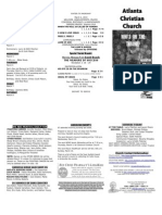 March 2, 2014 Trifold Bulletin