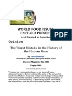 Jared Diamond - The Worst Mistake in the History of the Human Race
