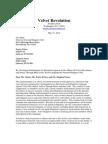 Velvet Revolution May 2012 Lawsuit Threat vs. Akbar