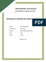 Definicion e Historia Del Derecho Minero Final