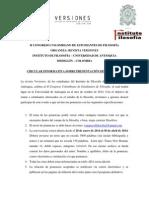 II Congreso Colombiano de Estudiantes de Filosofia Revista Versiones1