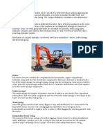 The Compact Hydraulic Excavator Can Be a Tracked or Wheeled Vehicle With an Approximate Operating Weight of 13