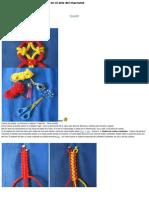 10 cadenas de calado de 4 hilos en el arte del macramé