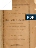 (1850) Eulogy on John Caldwell Calhoun