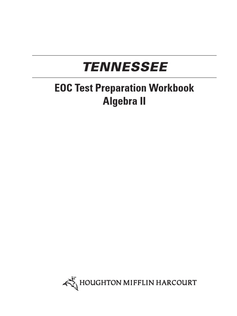 Workbooks florida us history eoc assessment test prep workbook : Tenn Algebra 2 EOC Practice Workbook | Numbers | Polynomial
