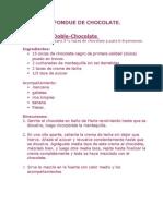 Recetas de Fondue de Chocolate