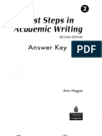 First Steps - Answer Key