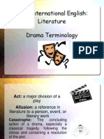 myp int drama terminology