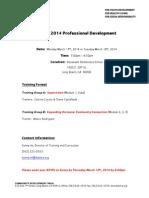 march 2014 module training flyer