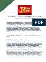 Informe Politico XV Congreso PC Rusia-2013
