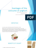 Advantages of the Consume of Yoghurt