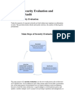Network Security Evaluation and Security Audit